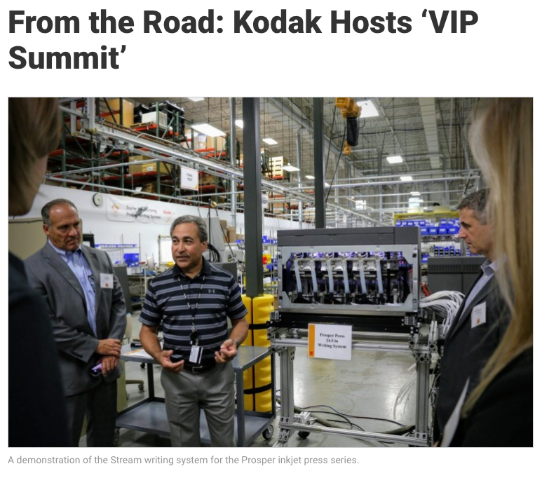 From the Road: Kodak Hosts 'VIP Summit'